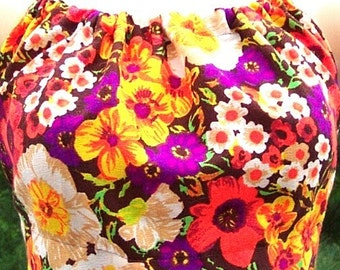 Day-Glo Floral Halter