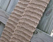 Light brown, camel, khaki, colored hand knitted scarf
