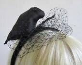 Raven Fascinator Feathered Headband