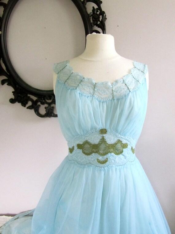Vintage Reconstruction Something Blue Fairy Slipdress