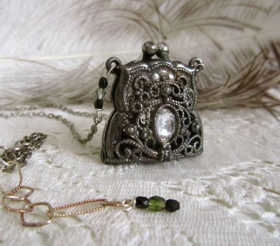 Victorian coin purse necklace