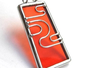 Stained glass pendant (1074)