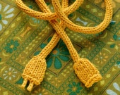 Knitted Power Cord - Yellow