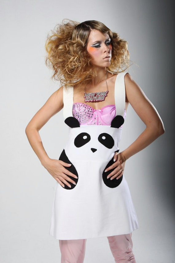 SALE Limited Edition New York Couture WHITE Panda Dress (as seen on Katy Perry)