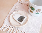 Handmade Ornament - Ceramic Teabag (earl grey)