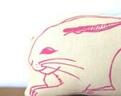 Handmade Rabbit Stuffed Animal (pink/albino)