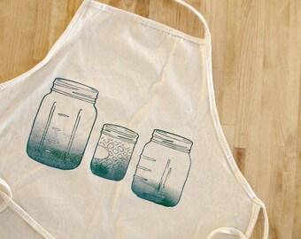 Blue Mason Jars apron, canning apron, blue mason jars, country jars apron