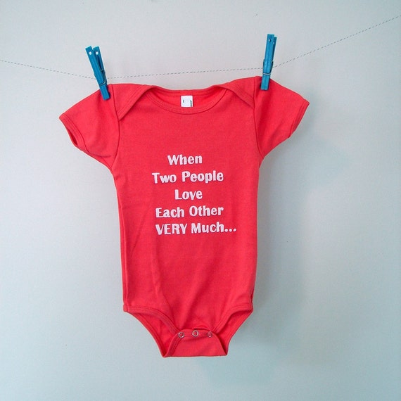 Love Each Other When Two Souls: When Two People Love Each Other Very Much Onesie Size By
