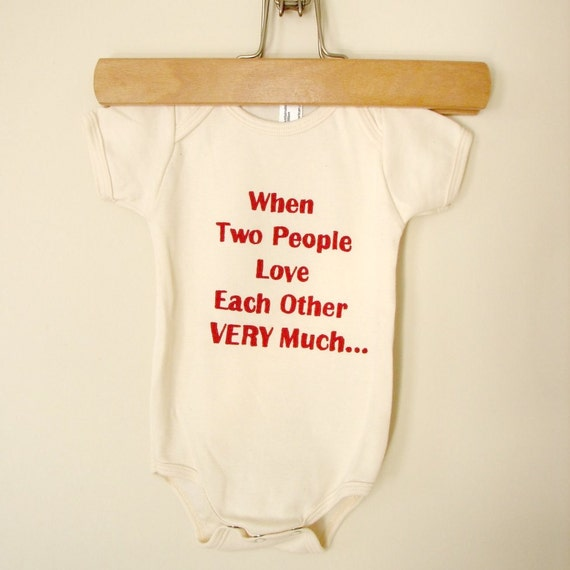 Love Each Other When Two Souls: When Two People Love Each Other Very Much Onesie Cranberry