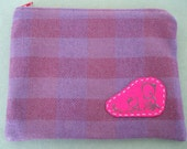 pink and purple knitting zipper pouch