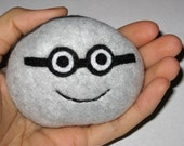 Nerdy Pet Rock Plush With Glasses