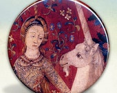 Lady and Unicorn Tapesties  (Sight) Pocket Mirror