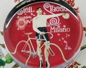 Cicli Stucchi Bicycle Glass Round Paperweight tartx