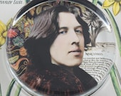 Oscar Wilde Narcissus Glass Round Paperweight tartx