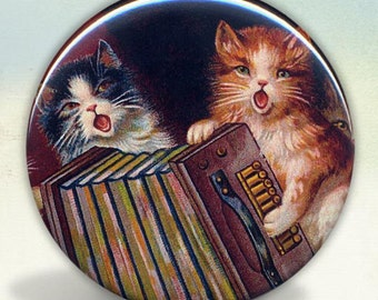 Singing Accordion Playing Cats pocket mirror tartx
