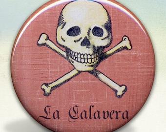 Loteria La Calavera - The Skull pocket mirror tartx