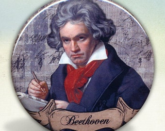 Beethoven Classical Composer pocket mirror tartx