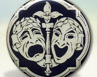 Comedy Tragedy Mask Pocket Mirror tartx