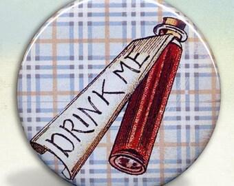 Alice Wonderland Drink Me Bottle  pocket mirror tartx