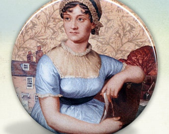 Jane Austen Collage Pocket Mirror