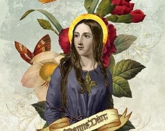 Jeanne d'Arc tartx art print