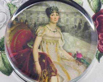 Josephine de Beauharnais Glass Round Paperweight tartx