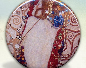 Klimt Water Serpents II pocket mirror tartx