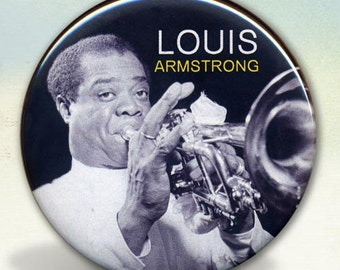 Louis Armstrong Jazz Legend pocket mirror tartx
