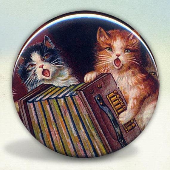 Singing Accordion Playing Cats pocket mirror tartx