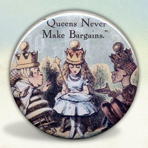 Alice Queens Never Make Bargains Pocket Mirror tartx