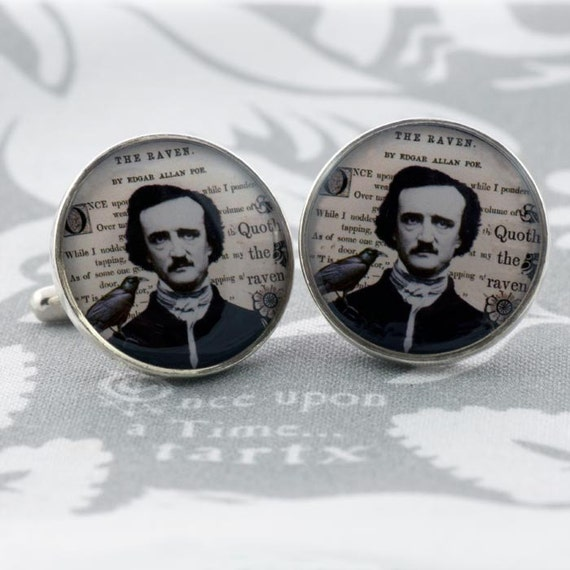 Edgar A. Poe and The Raven Cufflinks