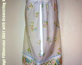 Floral Pillowcase Skirt with Drawstring Waist -SALE