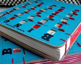 BINGO Wedding Guestbook Journal Sketchbook turquoise - made to order
