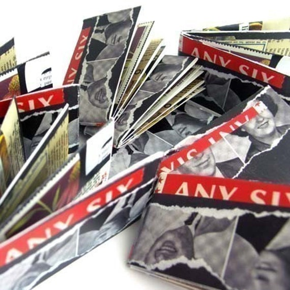ANYSIX Zine by somavenus - collage, art, cut and paste art book with button badge