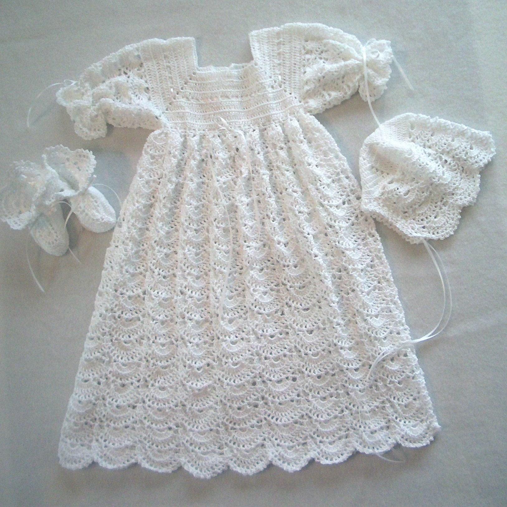 Heirloom Crochet Baby Dress Pattern Dancox for