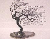 Black Wire Windblown Tree