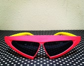 Hot RADICAL RETRO SHADES / Vintage 80s Back to the Future Pizza Hut Issue Neon Sunglasses