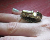 Monopoly Car Antiqued Brass Ring
