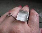 Timberwolf Gray Glass Tile Ring