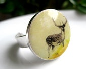 Sunset Deer Resin Ring