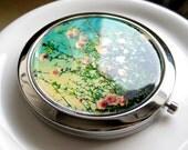 Cherry Blossom Compact Mirror