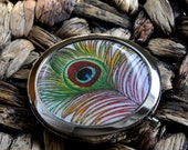 Peacock Feather  Compact Mirror