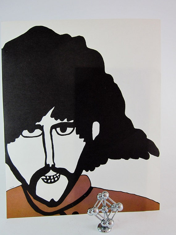Vintage Beatles Yellow Submarine POP ART Lithograph Print - George Harrison