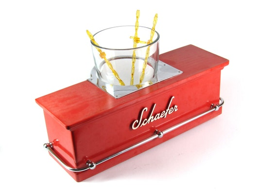 1950s Schaefer Beer Bar Counter Display  - Salesman's Sample - Candy Apple Red