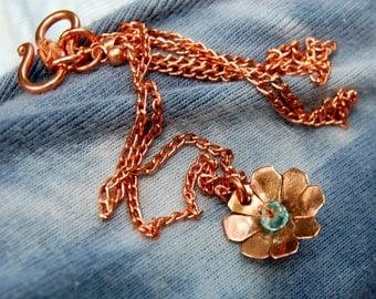 Copper Wildflower 6 (Apatite) 18 Inch Necklace