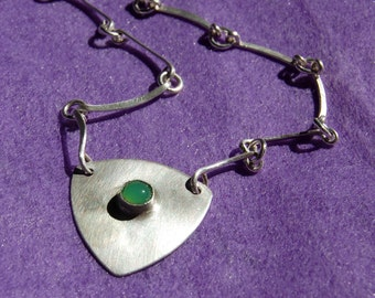 Indigenous Fine and Sterling Silver Handmade Link Necklace Number 1