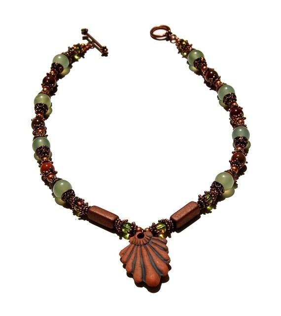 Mookite, Serpentine, and Ceramic Necklace