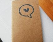 i say love-moleskine notebook