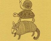 Three Animal Friends ( limited edition ) 8.5x11