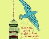 Bird Freedom Print / Julz Nally